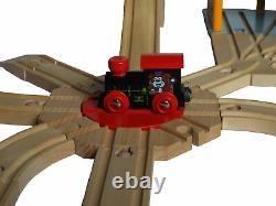 Large Wooden Train Set, BRIO Bigjigs compatible, huge railway track, 3 layouts