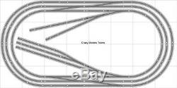 Layout #012 Bachmann HO EZ Track (NS) Nickel Silver 4' X 8' NEW Train Set