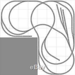 Layout #029 Bachmann HO EZ Track Nickel Silver 8' X 8' L-Shape NEW Train Set