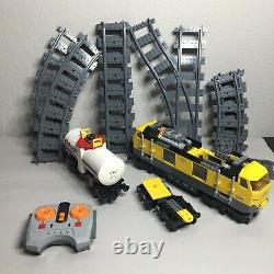 Lego 7939 City Cargo Train 2010 Engine, Tanker, Remote Control, Tracks
