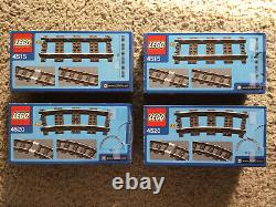 Lego 9V Train Tracks Combo 2xStraight (4515) and 2xCurve (4520)