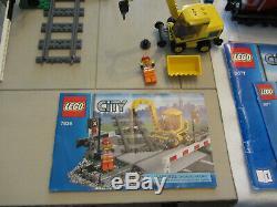 Lego City 3677 Red Cargo Train 7936 Level Crossing Lot 60238 7499 Xtra Tracks