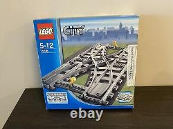 Lego City Double Crossover Train Track (7996) 100% Complete With Box No Manual