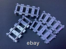 Lego City Train tracks BULK 71 Pieces 47 Curved 24 Straight