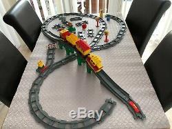 Lego Duplo Train Set -BIG LOT-41 Track Bits Battery locomotive -Train Bridge