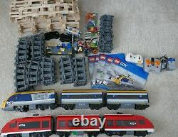 Lego Red and Yellow City Passenger Trains Sets. 7938 & 60197. Lego Train/Tracks