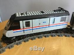 Lego Train 9v 4558 metroliner train set, with track and power supply used