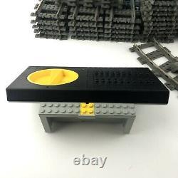Lego Train 9v Lot Regulator Track Adapter Straight Curved Switch Cross Tracks