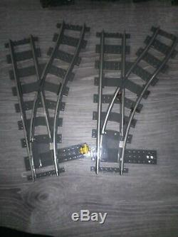 Lego Train Track 9V Switching 2 LEFT & 2 RIGHT 36 Curve & 12 Straight Track