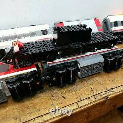 Lego city high speed bullet train, track, switches, extra cars, motor. No remote