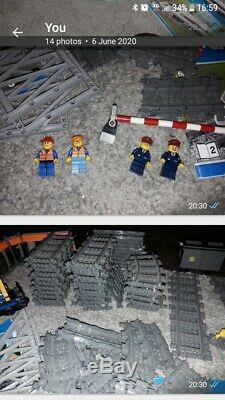 Lego city train + track + tram + figures bundle theres over £100 in track