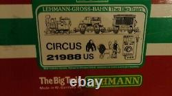 Lehmann LGB CIRCUS 21988 US train set tested-works track and transformer also