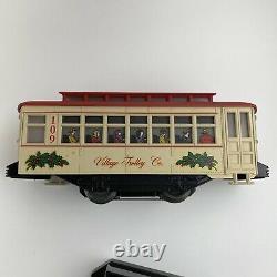 Lionel 6-11809 Christmas Village Motorized Trolley Set Train 0-27 Track Gauge