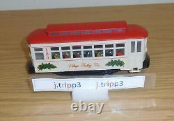 Lionel 6-11809 Christmas Village Motorized Trolley Set Train O-27 Track Gauge