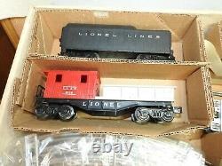 Lionel O Gauge #11540 Steam Locomotive Freight Train Set, Complete, New Track