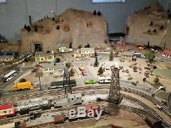 Lionel O Gauge Custom Train layout