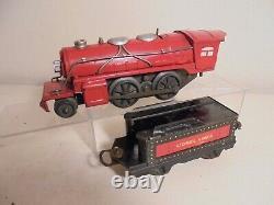 Lionel O Post-war Train-set (1681E) c/w 3 Passenger Cars(no track)boxes poor