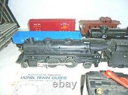 Lionel Rare 245 Steam Engine O Gauge Train Set Complete With Track Postwar
