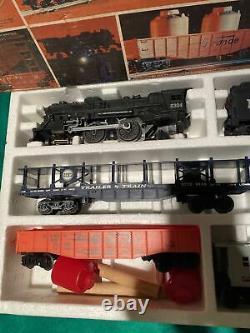 Lionel Rock Island Express 027 Gauge Locomotive Freight Train Set + Track