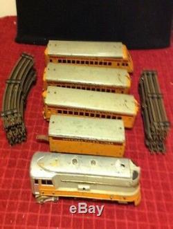 Lot RARE Vintage American Flyer HIAWATHA Engine Observation Train Set Track AFL