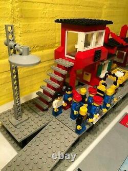 Massive Lego lot 7824 & 7745 + Train Railway Tracks Station Vintage