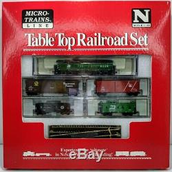 Micro-Trains N Scale Burlington Northern #6226 Tabletop Railroad Set With Track