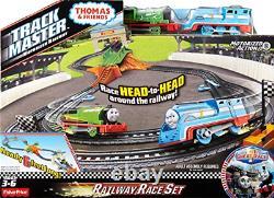Motorized Train Playset Thomas Friends Track Master Percy Railway Race Set Toy