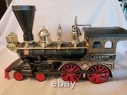 NINE CARS Jim Beam train decanter set with tracks