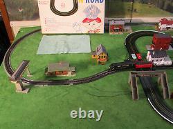 NMIB Vintage Marx Rail & Road Slot Car Railroad Train Track Race Set