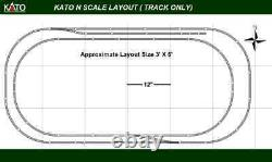 New Kato N Scale 3' X 6' Unitrack Train Track Layout Set (Track Only)