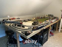 O Scale Train Set Buildings Bridges Cars Locomotive Tracks Fast Track Not HO
