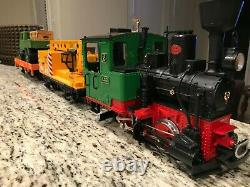 PREOWNED-LGB # 73401 Work Train Set withCircle Track, Power Pack & Terminal Wires