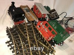PlayMobil LGB G Scale Steaming Mary Western Motorized Train Set Cars Track Rare