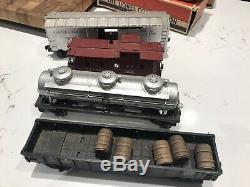 Post War Lionel Train Set 2046W. Transformer, Tracks, Signals, Boxes, Book