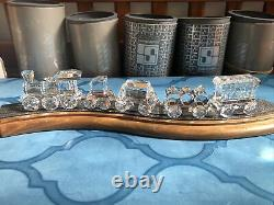 Swarovski crystal figurine Train Set with track. All in mint condition