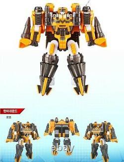 TOBOT V 6-Integration MASTER-V, DRILLER, TRAIN, STEALTH Transformer Robots Full Set