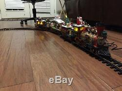 The Holiday Express Animated Train Set + Extra Car & Track NICE