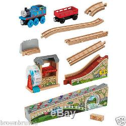 Thomas & Friends Wooden Railway Musical Melody Tracks Set with 1 Train 1 Cargo NEW