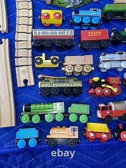 Thomas The Tank Engine Train Set Wooden Tracks Brio HUGE LOT 129 Pieces Vintage
