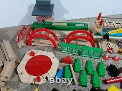 Thomas The Train Set Wooden Tracks HUGE LOT Wooden Engines and Cars