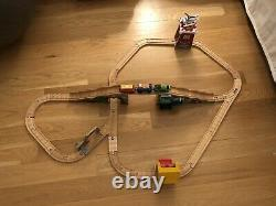 Thomas Wooden Railway Train & Tracks Percy and The Little Goat Set