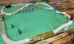 Thomas Wooden Train Set Lot Muffle Mountain Overpass Gold Track House