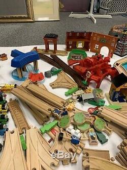 Thomas the Train 200+ PC. Wooden And Plastic Railway Set, tracks, trains, Etc