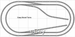 Train Layout #001 DCC Bachmann HO EZ Track Nickel Silver 4' X 8' Train Set