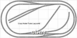 Train Layout #002 Bachmann HO EZ Track Nickel Silver 4' X 8' Train Set