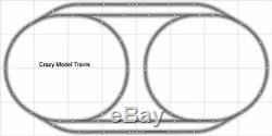 Train Layout #004 Bachmann HO EZ Track Nickel Silver 4' X 8' Train Set