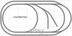Train Layout #005 DCC Bachmann HO EZ Track Nickel Silver 4' X 8' Train Set
