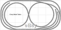 Train Layout #007 Bachmann HO EZ Track Nickel Silver 4' X 8' Train Set