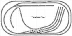 Train Layout #011 DCC Bachmann HO EZ Track Nickel Silver 4' X 8' Train Set