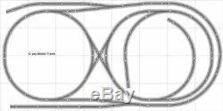 Train Layout #014 Bachmann HO EZ Track Nickel Silver 4' X 8' Train Set